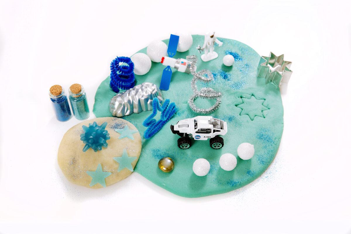 KOSMOSS - Plastilīna (playdough) komplekts bērna radošās, sensorās un iztēles attīstībai
