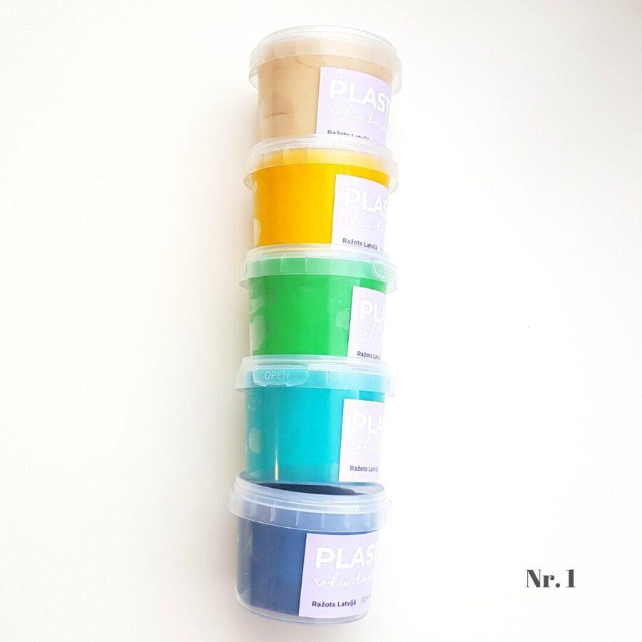 5 krāsu plastilīna (playdough) komplekts