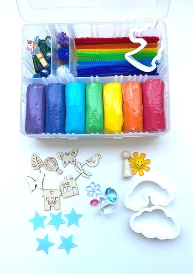 VARAVĪKSNE - Plastilīna (playdough) komplekts bērna radošās, sensorās un iztēles attīstībai